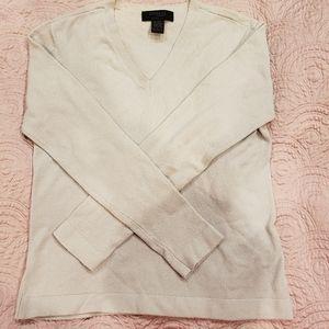 Express gray stretch long sleeve v-neck sweater